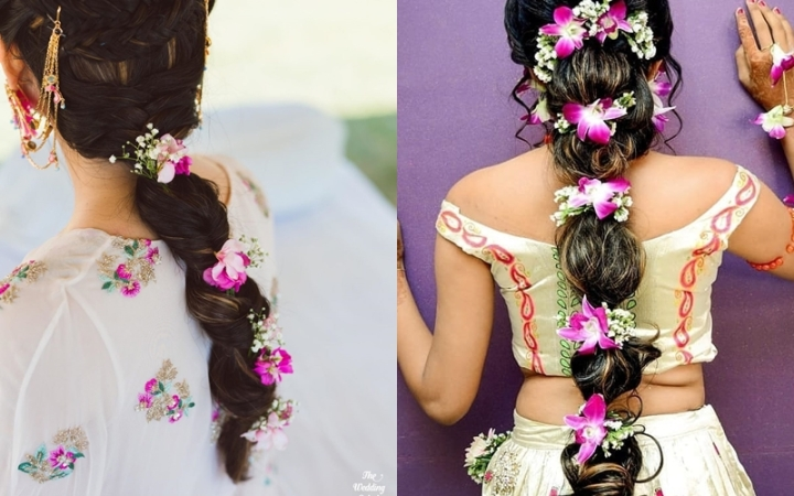 27 Jaw-dropping Inspirational Hairstyles with Gajra/Veni Which Makes You  Stand Out In Crowd